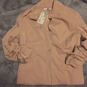 One button blazer